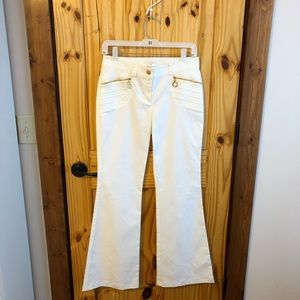 Escada White Flared Pants